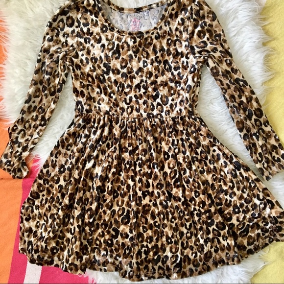 Children's Place Other - Animal Print Velour Dress 7-8